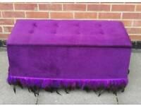 Purple Ottoman great storage ex condition can deliver