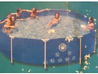 12ft round metal frame pool set