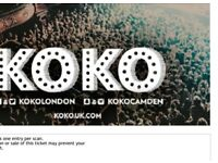 1x ticket to see Lowkey on 23rd June Koko (£10)