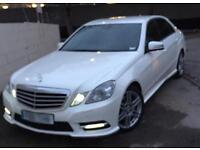 2012 (12) Mercedes Benz E220 cdi AMG white NAV auto may px a6 a4 e250 e350 c220 c250 520d 525d 530d