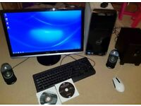 DELL XPS 8300 desktop, 23inc DELL monitor, DELL keyboard+mouse+Logitech Speakers-2.1