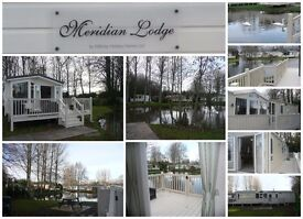 LAKEFRONT LODGE caravan for hire PRIVATE GARDEN, GREAT VIEW, Haggerston castle