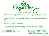 Pet waste vacuuming serivce poops away