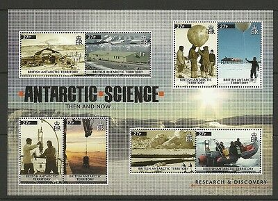 BRITISH ANTARCTIC TERRITORY-2011 SCIENCE THEN & NOW 8V SHEET -MNH