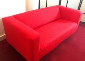 I can deliver - Great condition IKEA Klippan 2 seater Sofa in red colour