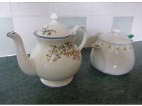 Teapots - 1 Chatsford PG Tips & 1 Staffordshire fine bone china