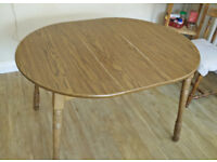 Extendable Dining Table & 4 Chairs