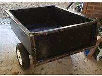 trailer for sit on garden tractor mower