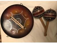 Trinidad & Tobago Steel Pan & Maracas Set