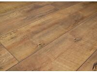 BRAND NEW 2 packs (4sq.m.) rustic american oak click system 8mm v-groove laminate flooring .