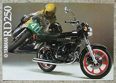 YAMAHA RD250 Motorcycle Sales Brochure 1979 #LIT-3MC-0107240-79E
