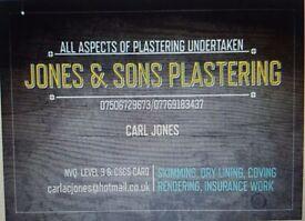 JONES & SONS PLASTERING Moston, Manchester FULL PUBLIC LIABILITY INSURANCE