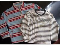 2 boys long sleeved tops, age 3-4