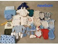 Baby boys newborn clothing bundle