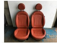 MINI Heated Redwood Lounge Leather Seats - R56 Mini One, Cooper, Cooper S, JCW