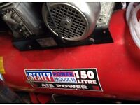 Used Condition 150L Sealey Air Compressor - 150ltr Belt Drive 3.0hp with Alloy Cylinders - £600 ono