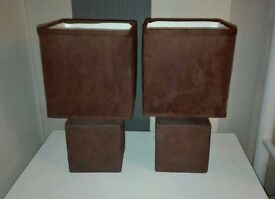Pair of bedside lamps £10