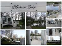 Luxury caravan Lodge for hire Private Lakefront Garden, GREAT VIEWS, Haggerston castle