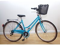 LADIES TRADITIONAL HYBRID 'TOWN & COUNTRY 'BIKE IN VERY GOOD CONDITION SERVICED (DYNAMO LIGHTS)