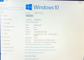 Windows 10 Pro Desktop PC, Monitor, Keyboard, Mouse all cables