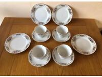 Vintage Yong Sheng Pottery Porcelain Tea Service, Tea Cups, Saucers & Side Plates. COLLECT LEEDS