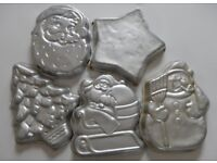 15 assorted cake moulds (14 Wilton),seasonal and novelty shapes