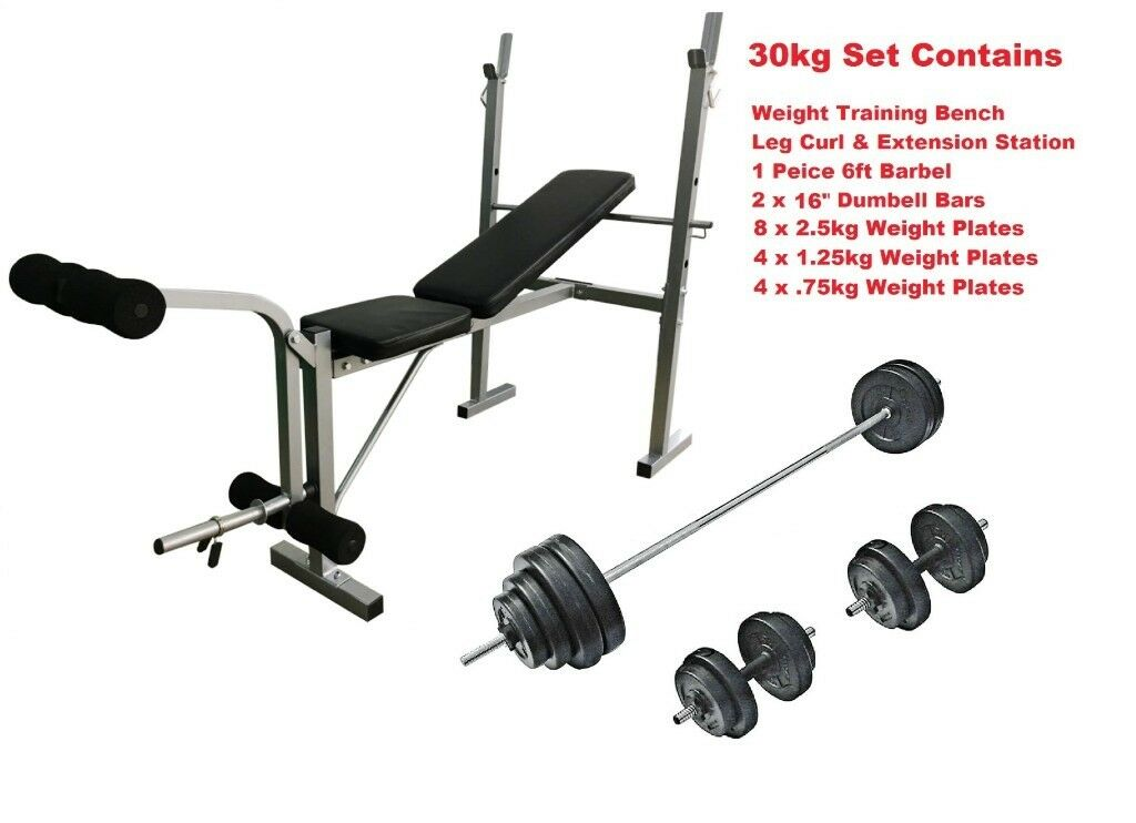 21bad39ca80 Weight Training Set Complete Multi Gym Workout Set Brand New From Warehouse  Stock From Only £99.00