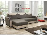 Corner sofa bed sofa bed UK STOCK 1-5 DAY DELIVERY Bala(Grey Black)