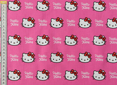 Hello Kitty Fabric - Bright Pink Design, 100% Cotton, Cushions, Curtains & More