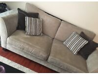 Three seater couch and chair from Sofology