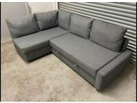 FREE DELIVERY IKEA FRIHETEN GREY L-SHAPED CORNER SOFA BED WITH EXTRA CUSHIONS GREAT CONDITION