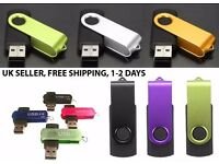 Lot 50 x 4GB Key Stick U-Disk USB Flash Drive, 4 COLOURS, REDUCED PRICE NOW