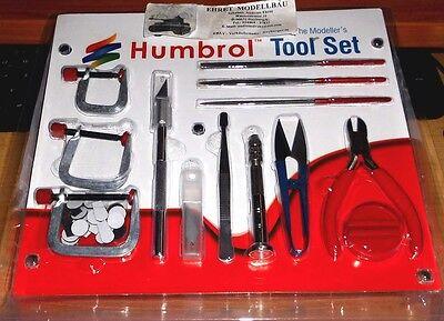 Werkzeug Set Tool Set  Modellbau Pinzette Feilen Schneidemesser Humbrol AG9159