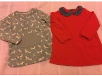 Two Girls Tunic Tops/Dresses, 12-18 months, Next
