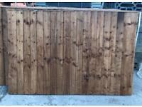 🦋 Pressure Treated Brown Vertical Board Wooden Garden Fence Panels