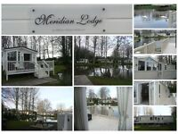 LAKEFRONT LODGE caravan for hire / rent PRIVATE GARDEN, GREAT VIEW, Haggerston castle