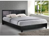 🌷💚🌷EXPRESS SAME DAY DELIVERY🌷💚🌷HIGH QUALITY DOUBLE LEATHER BED IN BLACK/BROWN COLORS