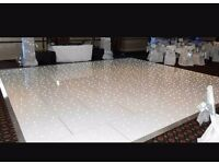 Dancefloor Hire with Starlight LED Lights (White)
