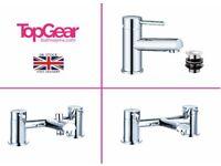 Modern Round Bathroom Tap Sets - Basin Mono, Bath Filler, Bath Shower Mixer