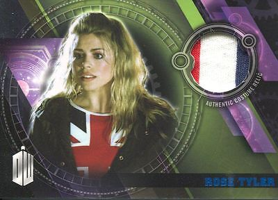 Doctor Who Timeless Blue Parallel [##/99] Costume Relic Card Rose Tyler's Shirt