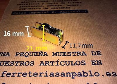 10 RUEDAS DE VENTANAS CORREDERAS repuestos aluminio rodamientos climalit 1122