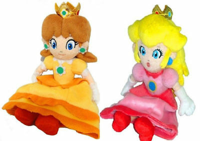 2pcs Nintendo Super Mario Bros Mario Princess Peach and Daisy Plush Doll Toy