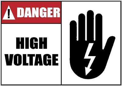 DANGER HIGH VOLTAGE WARNING DECAL SAFETY SIGN STICKER - Sticker Designs