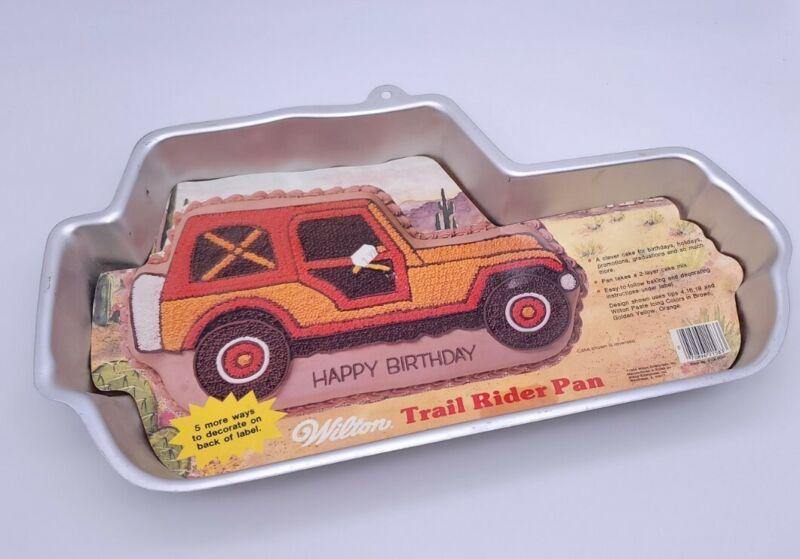 NOS Wilton 1984 Trail Rider Jeep Wrangler Cake Baking Pan Bronco 2105-5583