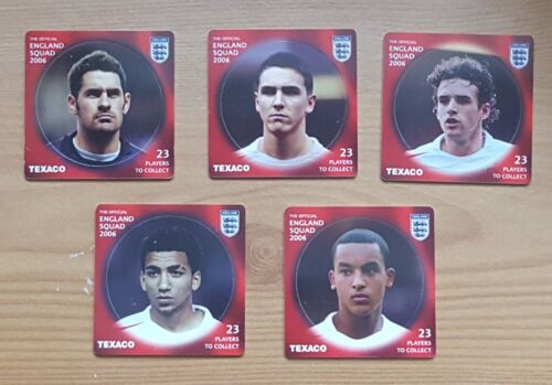 Texaco England World Cup Squad 2006 - 5 Players Not In Original Collection Token