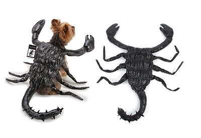 Black Scorpion Dog Costume High Quality Realistic Creepy Crawly Suit Size Small