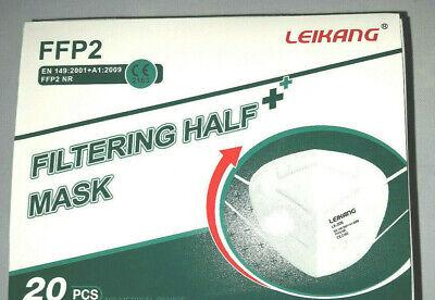 20x FFP2 Maske, LEIKANG 5 LagigEinzeln verpacktHalte-ClipCE 2163 EN