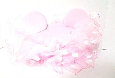 Minnie Mouse Tutu Adults (Disney Parks Minnie Mouse Ears Hat Pink Dots TUTU Toulle Ruffles NWT Adult)