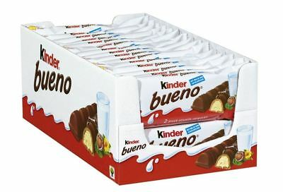 30 x KINDER BUENO CHOCOLATE CANDIES - BIG BOX !  CANDY ORIGINAL FROM GERMANY Kinder Bueno Candy
