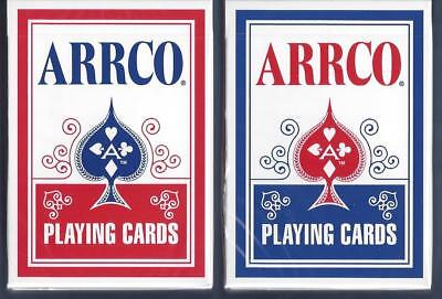 12 DECKS Arrco (2018) red-blue playing cards  FREE USA SHIPPING!